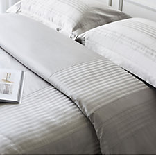 K by Kelly Hoppen Dobby Stripe Panel 6 Piece Duvet Set