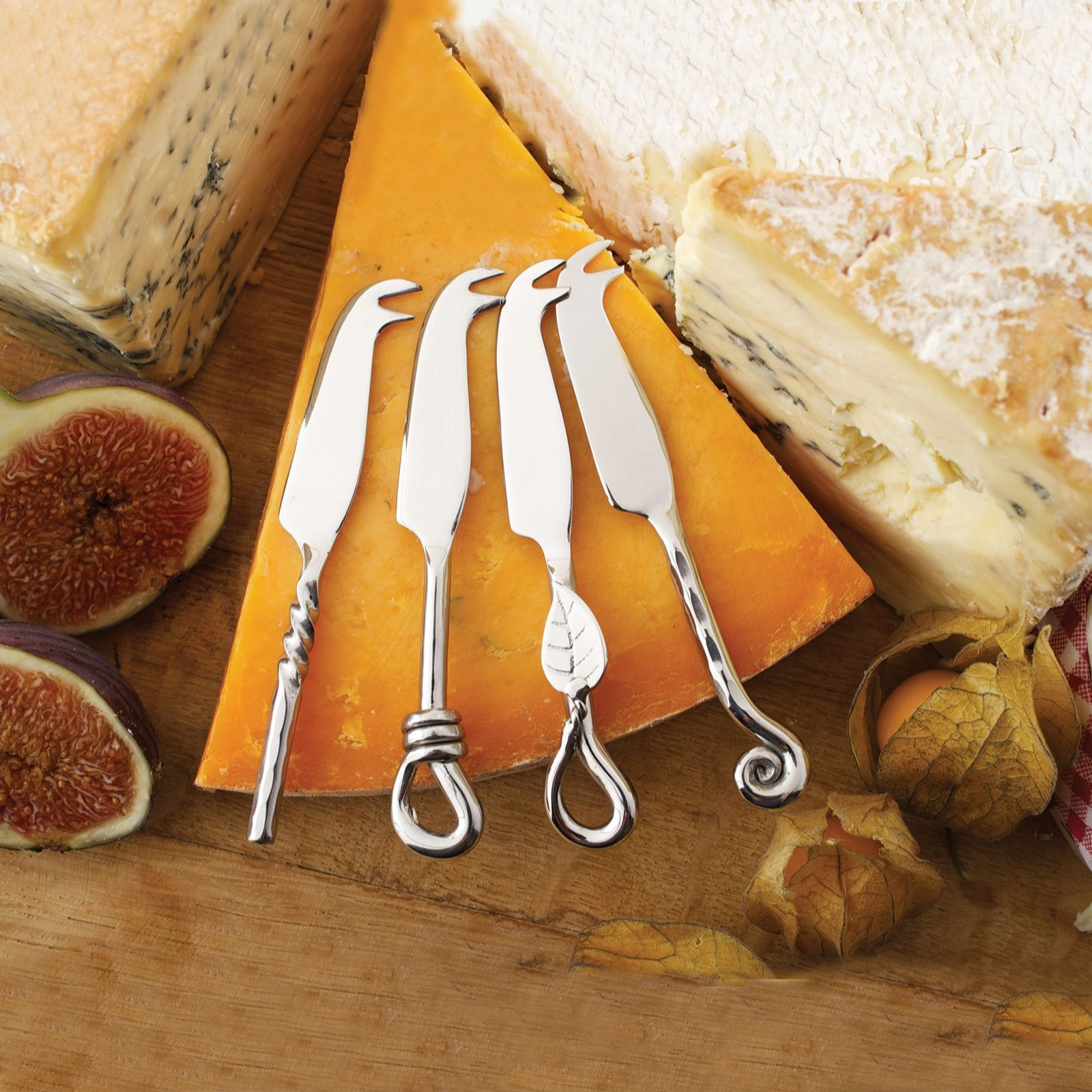 Culinary Concepts Set Of 4 Mini Coastal Cheese Knives Qvc Uk