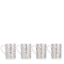 JM by Julien Macdonald Miami Set of 4 Porcelain Mugs in Gift Box