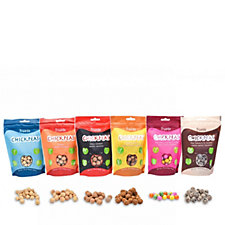 Truede Set of 6 Sweet & Savoury Roasted Chickpea Snack Bags