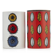 BundleBerry by Amanda Holden Set of 2 Retro Storage Jar & Utensil Holder