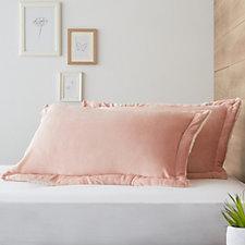 Cozee Home Faux Mink & Ultra Fluffie Set of 2 Pillow Shams