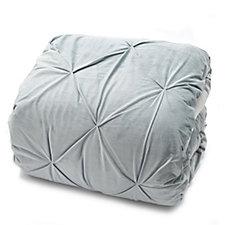 Outlet Alison Cork Pintuck Velvet Bedcover Cotton Reverse