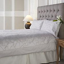 K by Kelly Hoppen 100% Cotton Geometric Jacquard 6 Piece Duvet Set