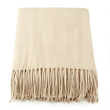 K by Kelly Hoppen Faux Cashmere Fringed Throw