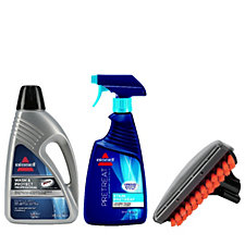 Bissell 3pc Professional Kit 650ml Pretreat & 1.5l Wash&Protect & Stain Tool