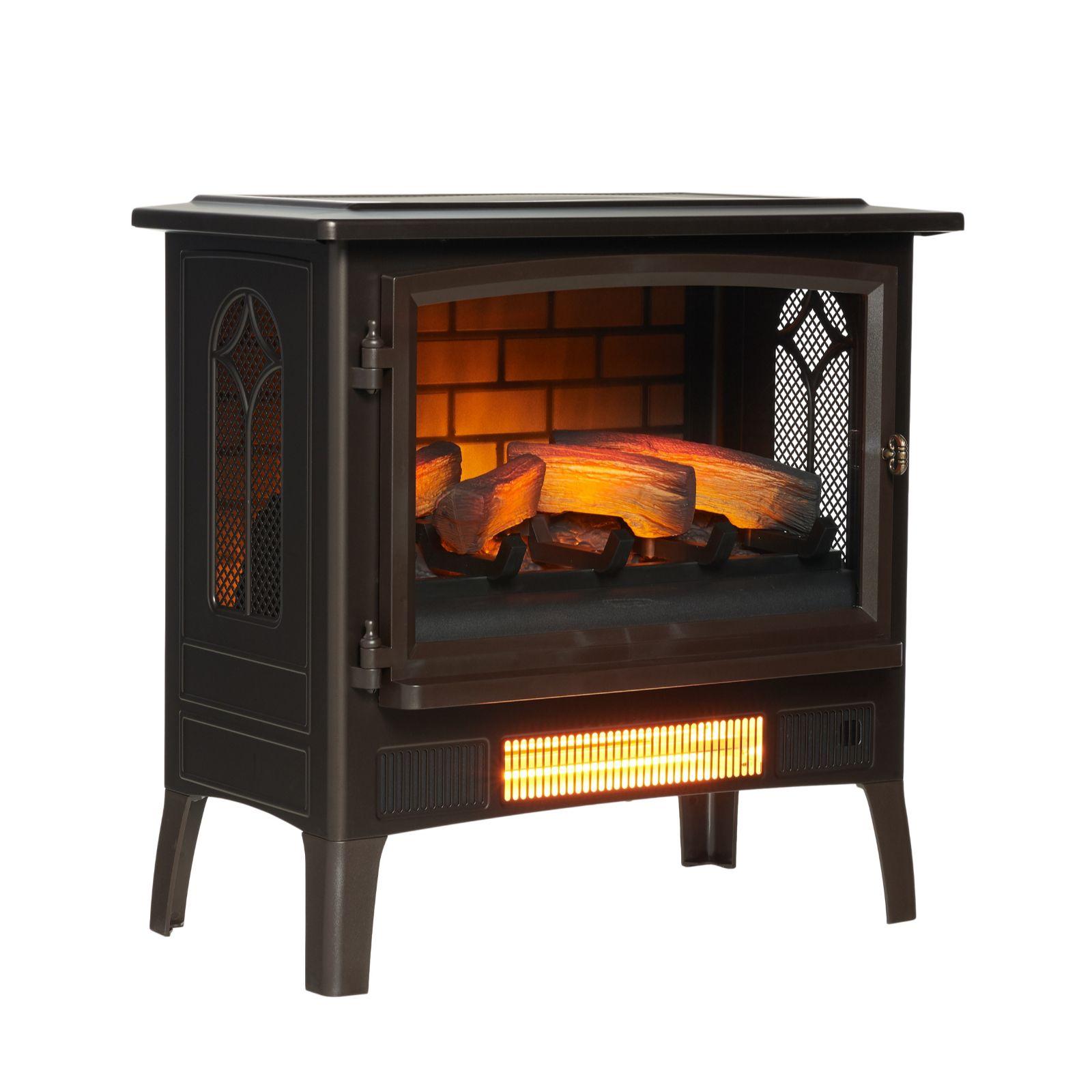powerheat log burner style infragen heater w 3d flame effect rh qvcuk com