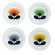 Orla Kiely Set of 4 Enamel Plates