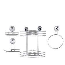 Beldray Suction & Shower Basket Set