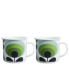 Orla Kiely Set of 2 Enamel Mugs