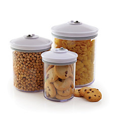 FoodSaver Set of 3 Vaccum Sealing Canisters