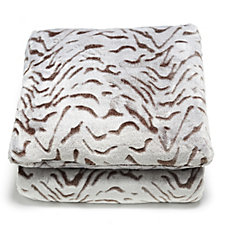Cozee Home Animal Embossed Throw & Cushion Set