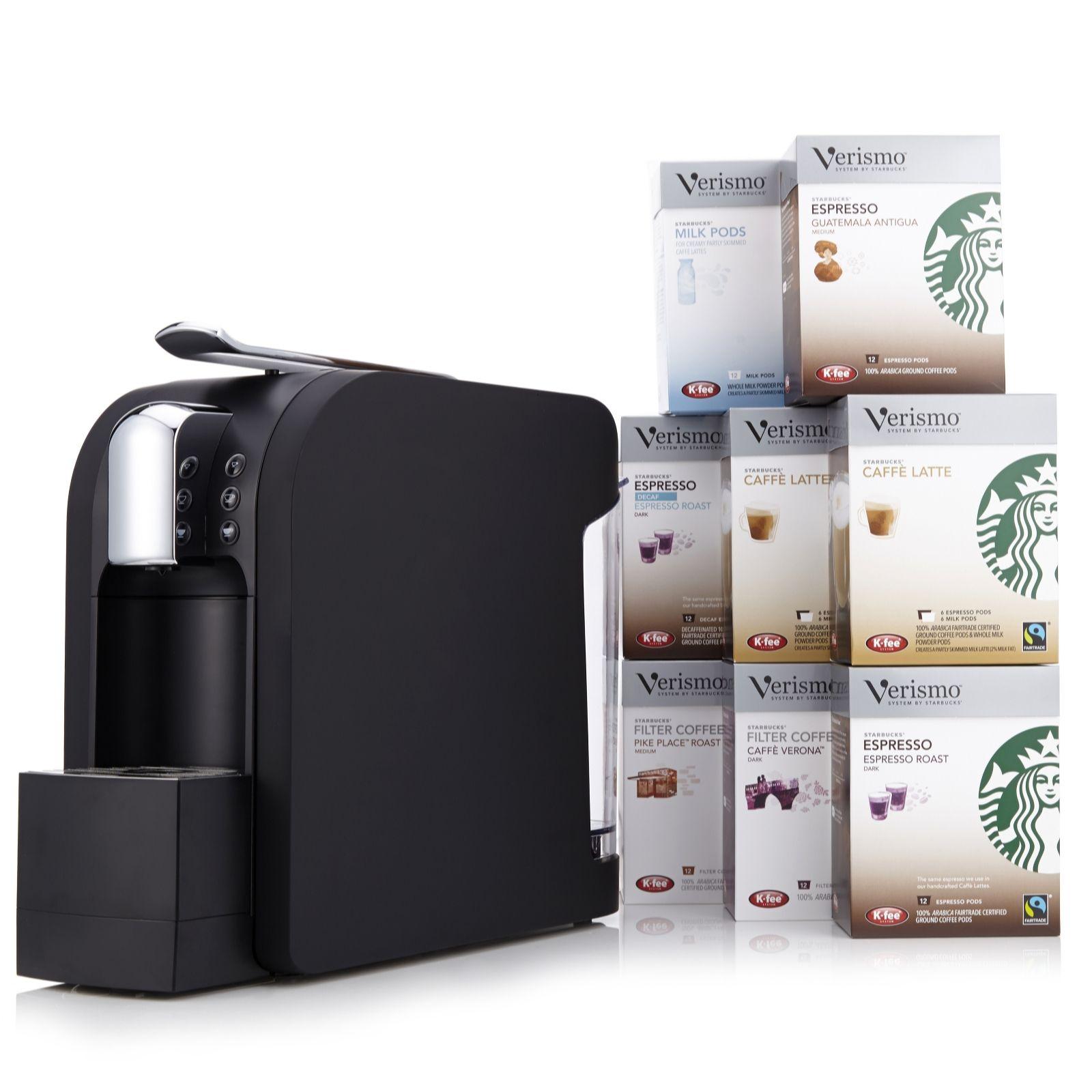Starbucks Verismo 580 Brewer Coffee Machine With 96 Coffee Milk Pods Qvc Uk