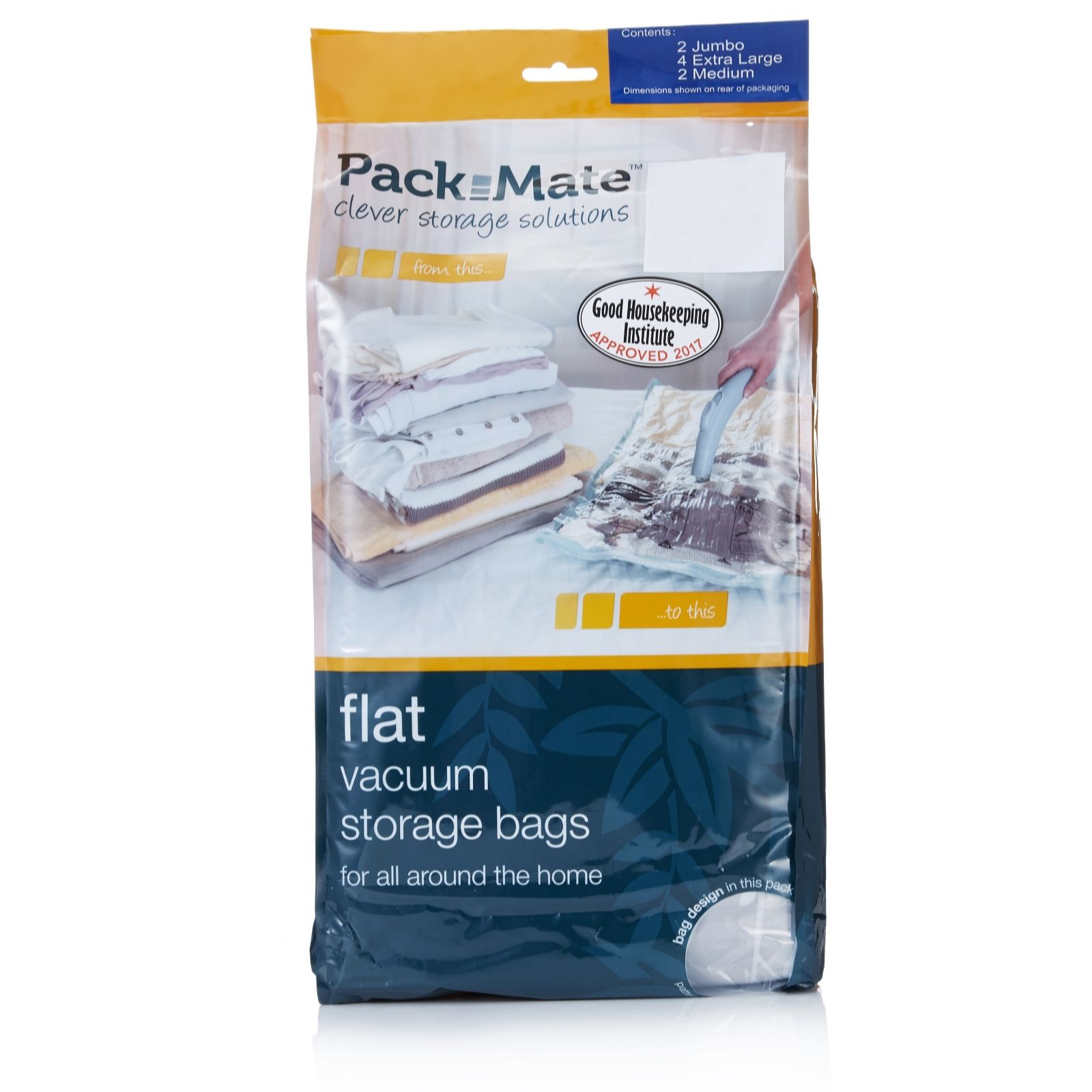 Pack Mate 8 Piece Vacuum Bag Set - QVC UK 69fc072c1e442