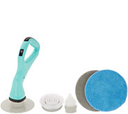 6-Piece Compact Indoor/Outdoor Cordless Power Scrubber w/ Attachments - V35902