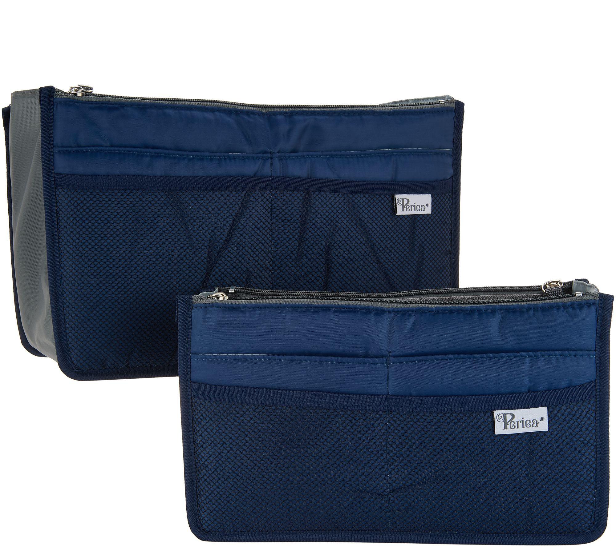 7d9a8638d387 Periea Set of 2 Premium Handbag Organizer with Pockets Med   Large - Page 1  — QVC.com