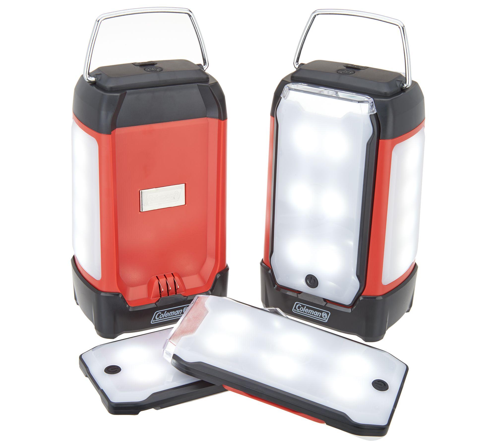 Coleman Rechargeable Duo Pro Led Lantern W 2 Magnetic Panels Qvc Com