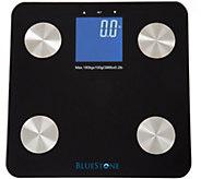 Bluestone Digital Body Fat Scale & Large LCD Display-Black - V119807