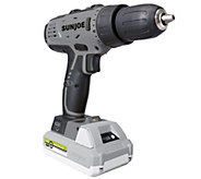 Sun Joe iON 24V Cordless Drill Driver Kit w/ 6 Bits & Carry Case - V35307