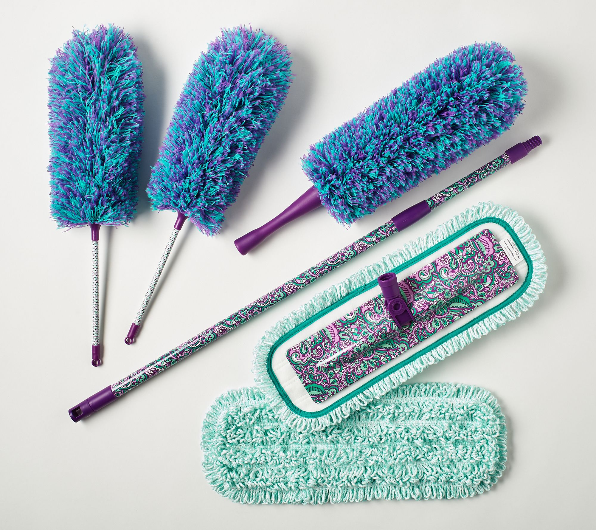 Premium microfiber dusters and mop system