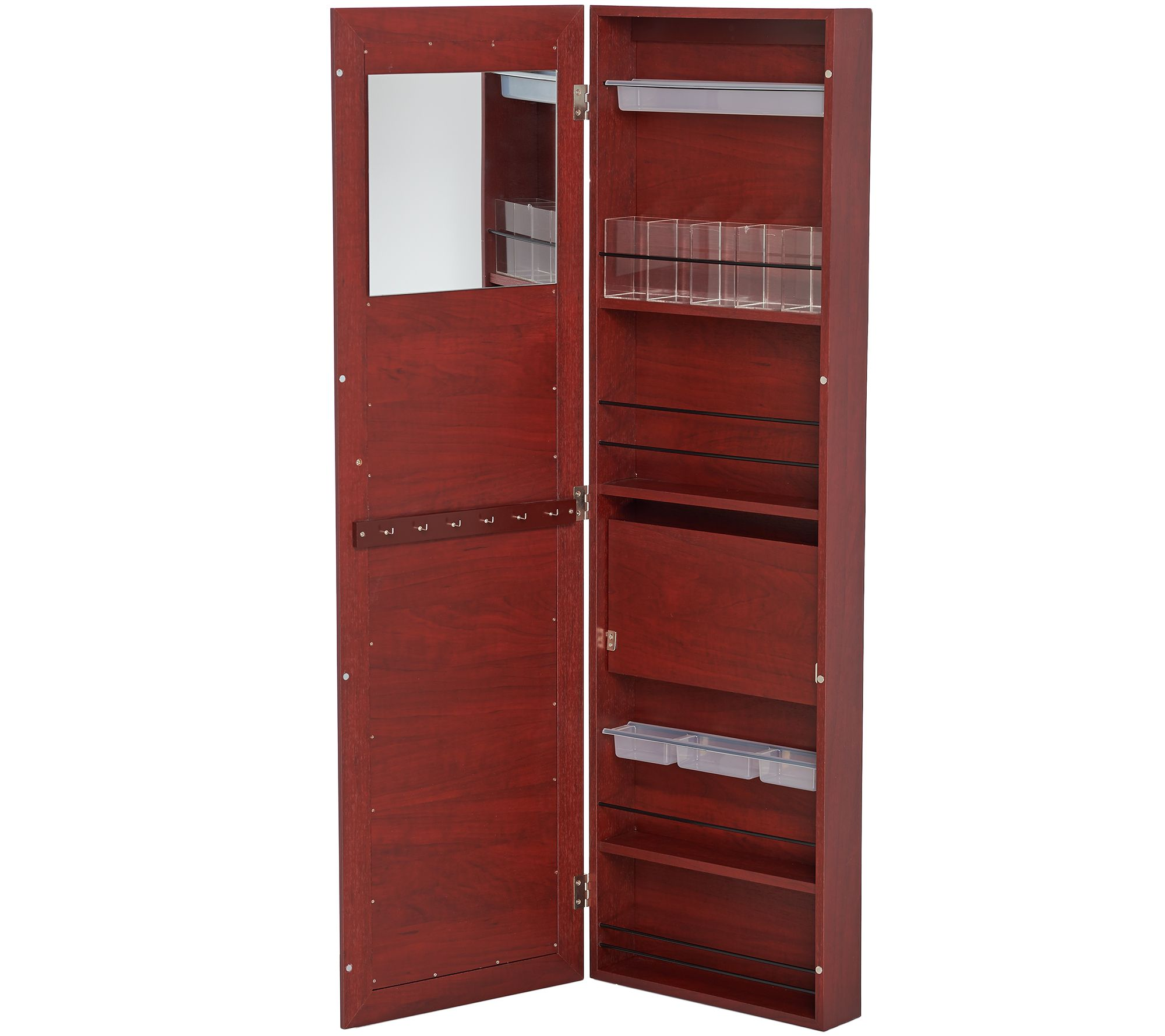 Over The Door Beauty Organizer Armoire With Mirror Page 1 Qvccom