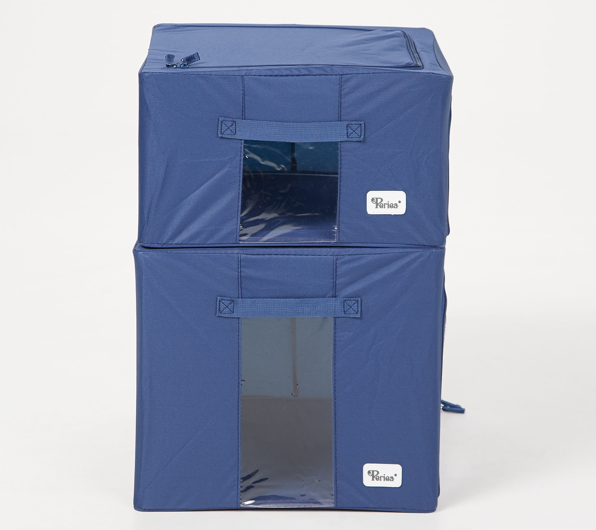 Periea Set Of 4 Collapsible Storage Boxes (2) Large U0026 (2) Medium Boxes    Page 1 U2014 QVC.com