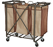 Foldable Laundry Storage System with Removable Bags - V35320