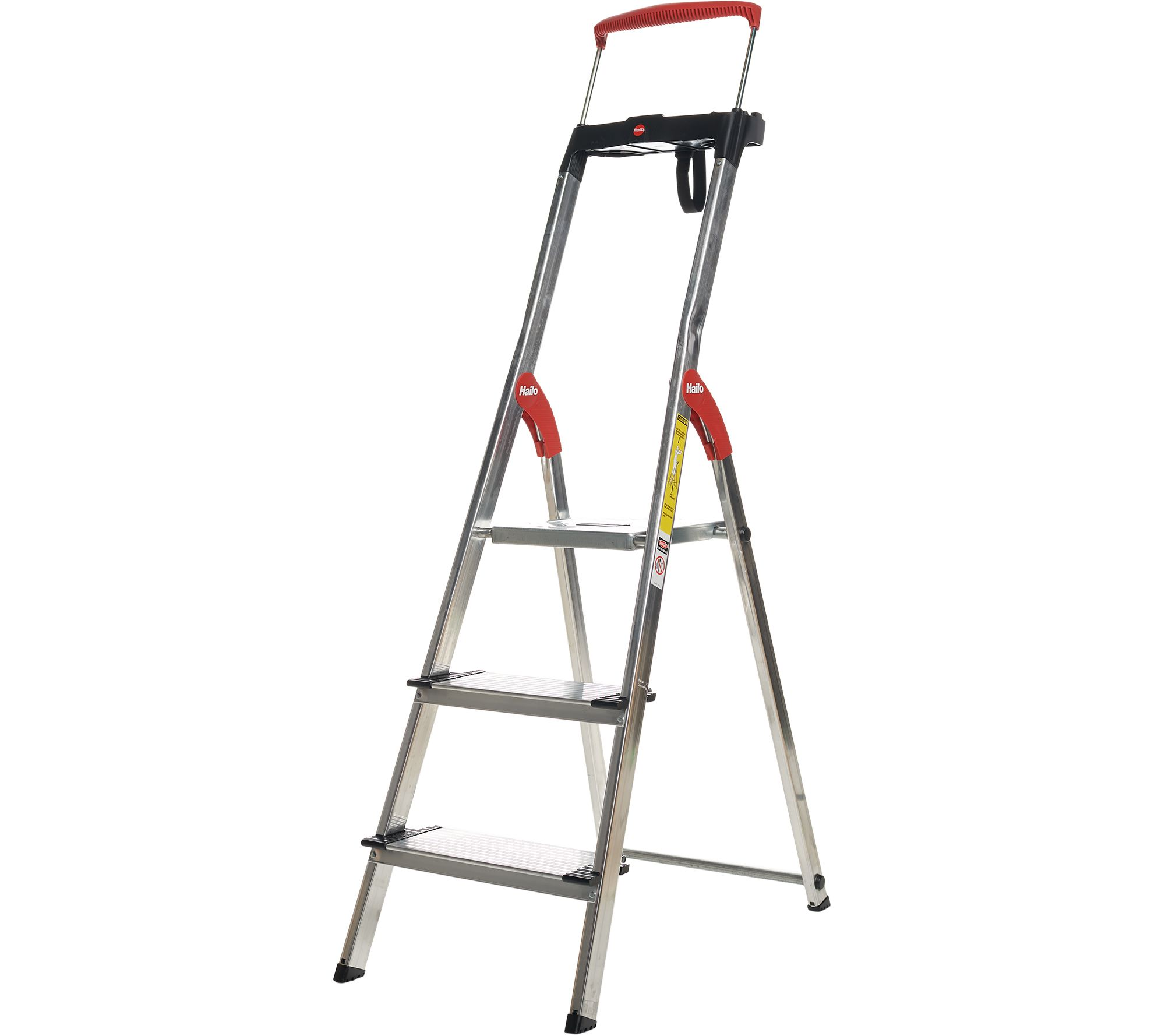 Remarkable Hailo 3 Step Lightweight Ladder With Safety Rail Qvc Com Inzonedesignstudio Interior Chair Design Inzonedesignstudiocom