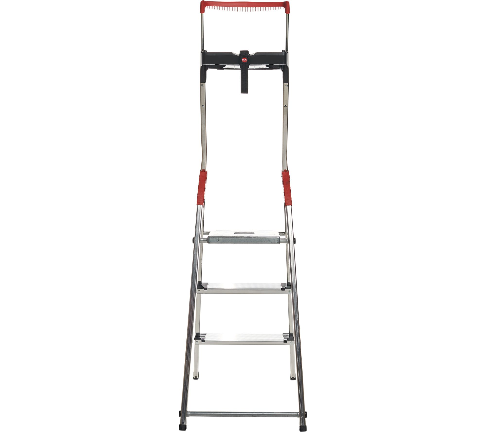 Surprising Hailo 3 Step Lightweight Ladder With Safety Rail Qvc Com Inzonedesignstudio Interior Chair Design Inzonedesignstudiocom