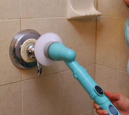Tub & Tile Multi-Purpose Cordless Power Scrubber w/3 Attachments ...