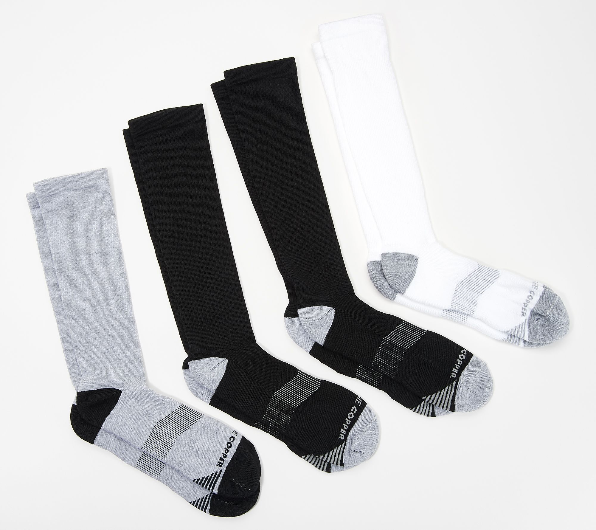 3a3a69ca30 Tommie Copper Men's 4-Pack Compression Over the Calf Socks - Page 1 — QVC .com