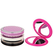 Floxite S/4 Compact Mirrors with 5x and 1x Magnification & Gift Bag - V36027