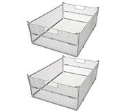 Oasis Set of 2 Collapsible Metal Folding Baskets - V35634