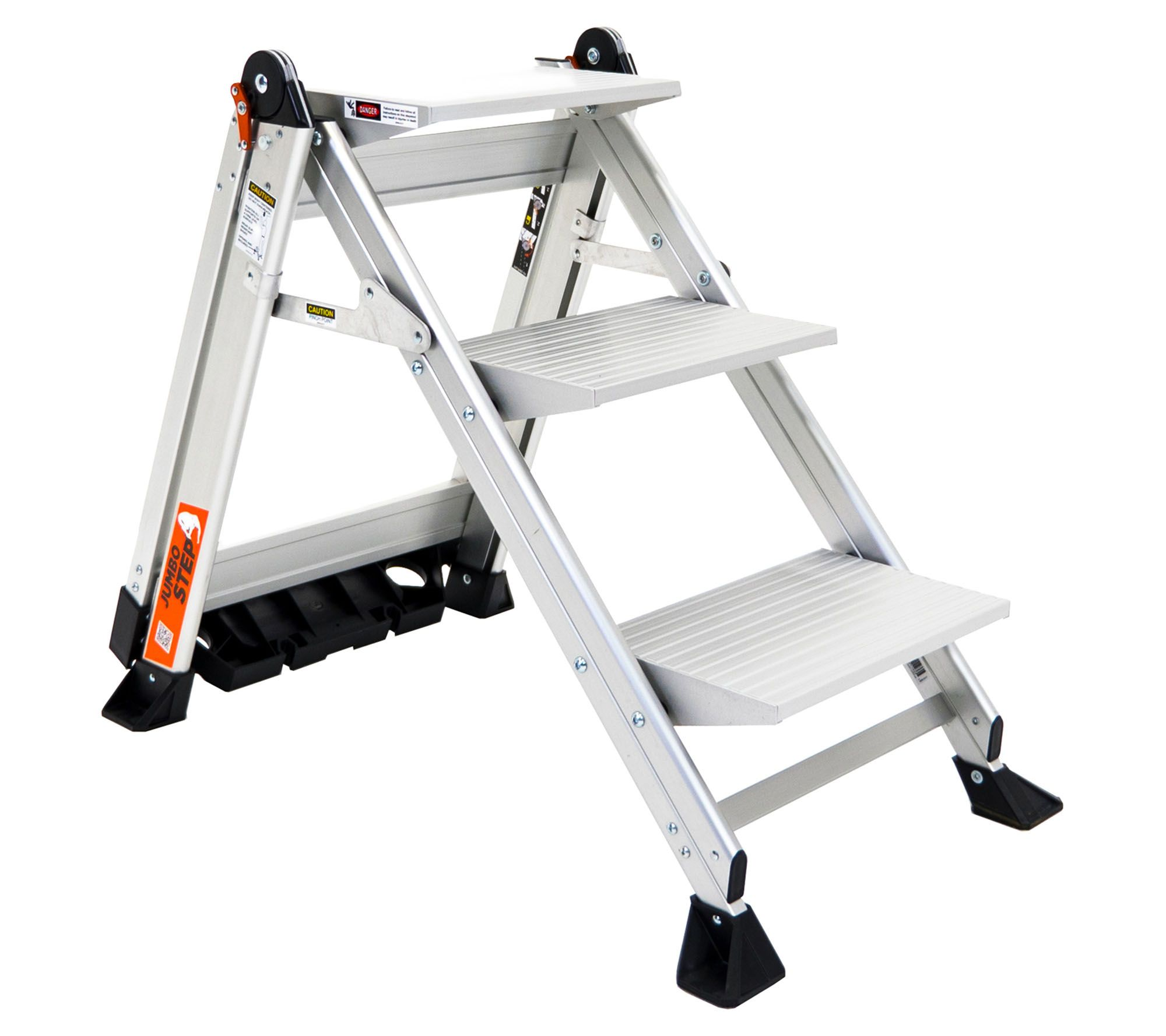 Little Giant Jumbo 3 Step Lightweight Step Stool W Safety