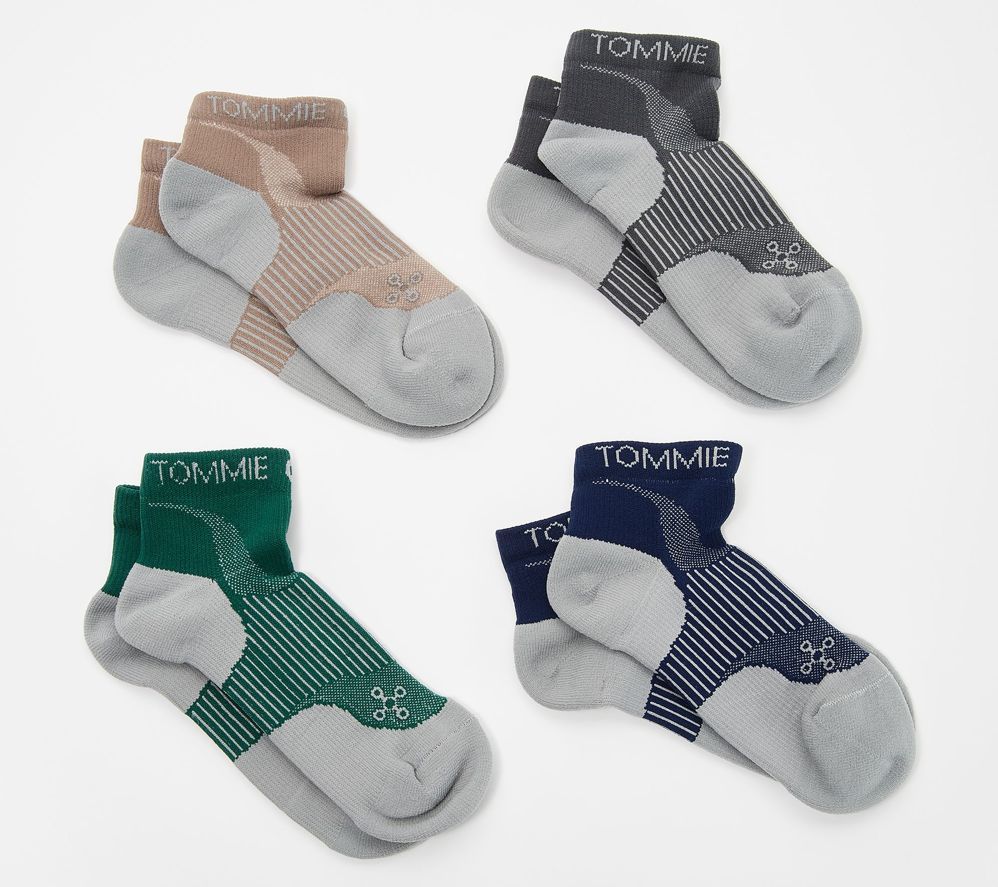 6c843cf873 Tommie Copper Men's 4-Pack Compression Ankle Socks - Page 1 — QVC.com