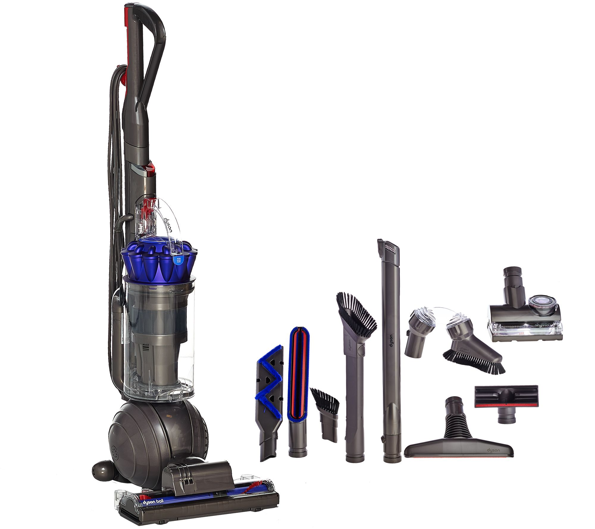Image of: Carpet Dyson Ball Animal Upright Vacuum W Assorted Attachments Page Qvccom Qvccom Dyson Ball Animal Upright Vacuum W Assorted Attachments Page