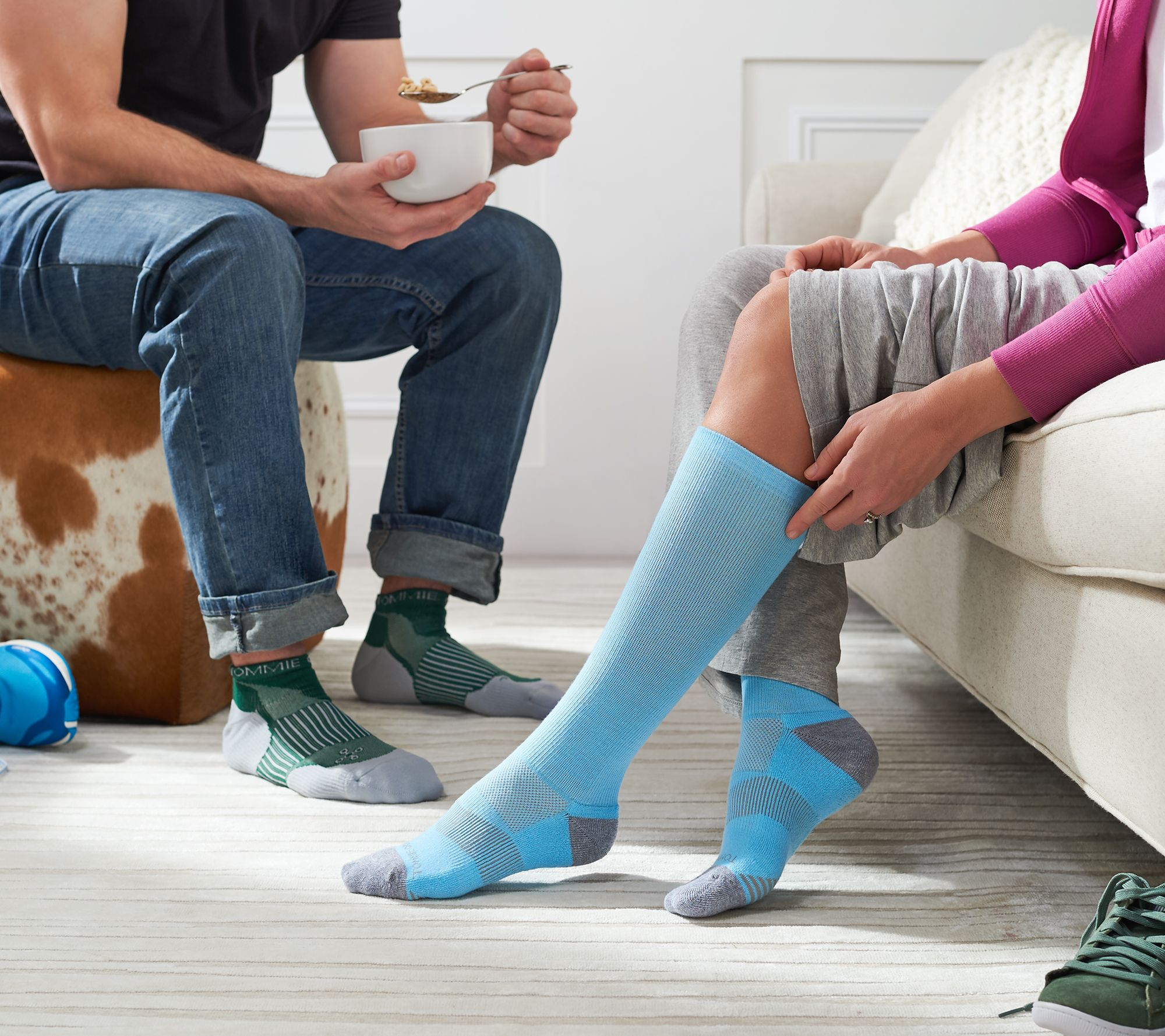 a9f872e336 Tommie Copper 4-Pack Ankle or Over-the-Calf Compression Socks — QVC.com