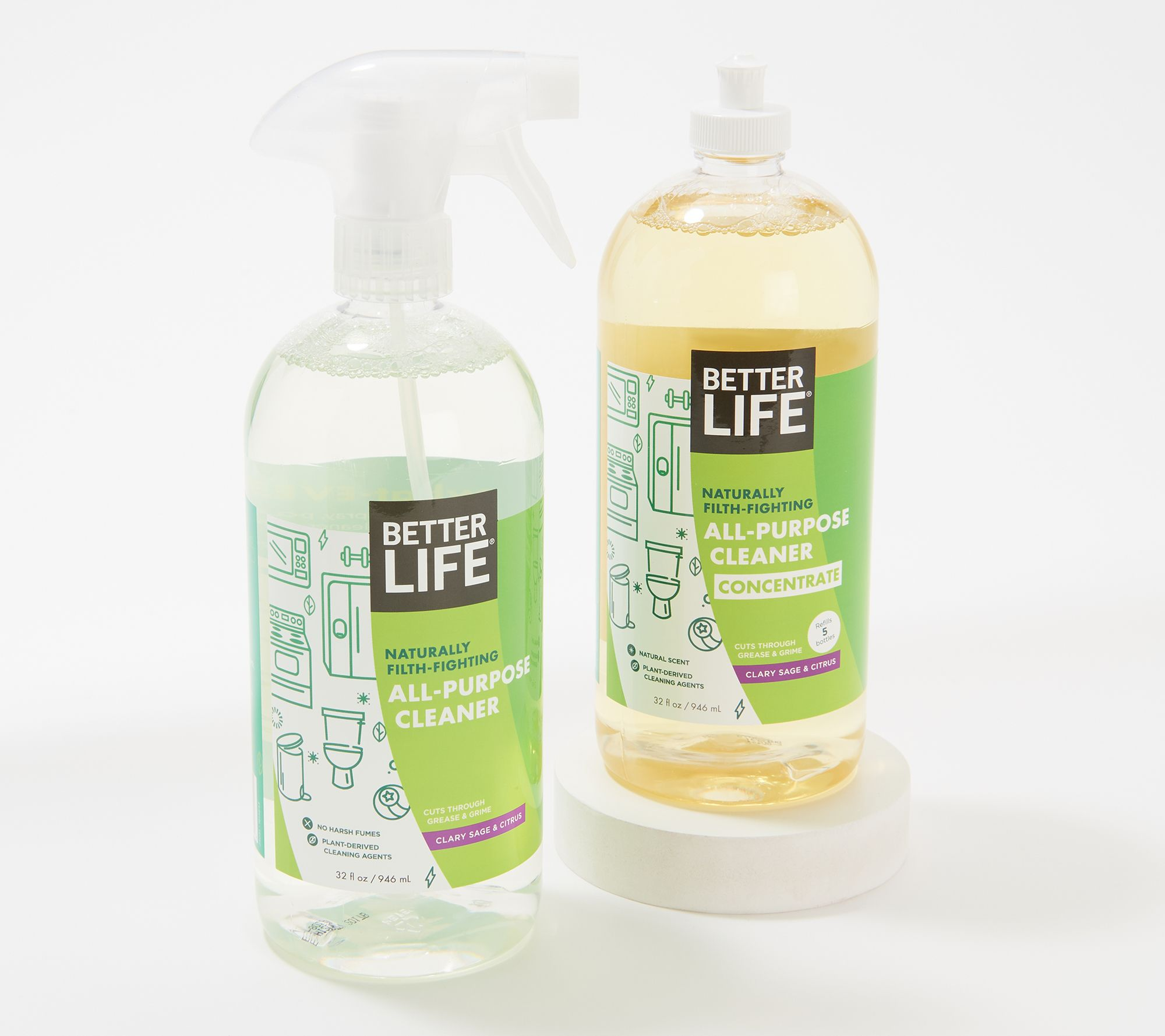 All-purpose cleaner with concentrated 32 oz refill
