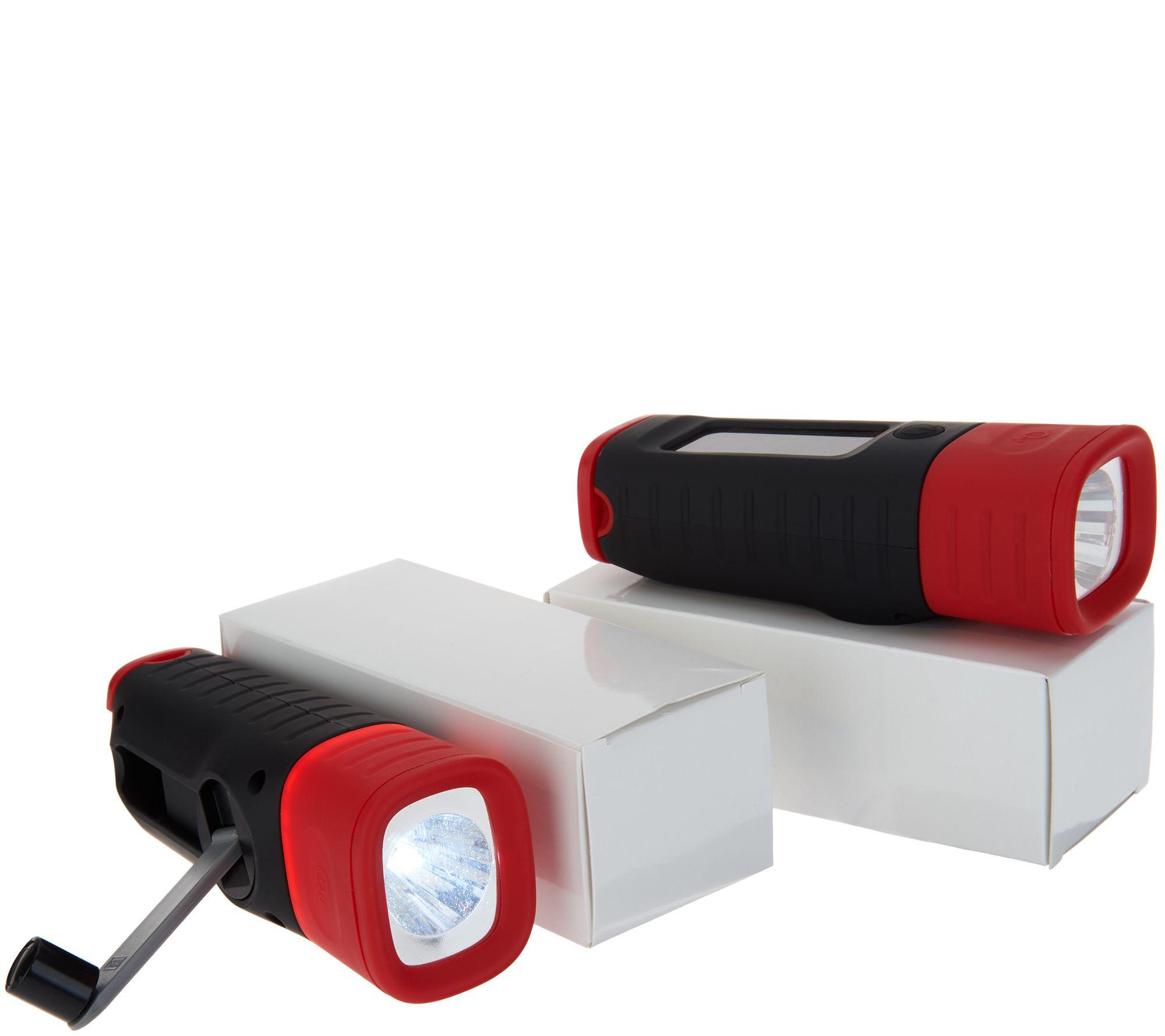 Arena Vision Lights: Set Of 2 Solar & Crank Dual Charge LED Lantern Lights