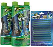 Green Gobbler Set of 2 Liquid Drain Openers with 12 Piece Bio-Flow Sticks - V35543