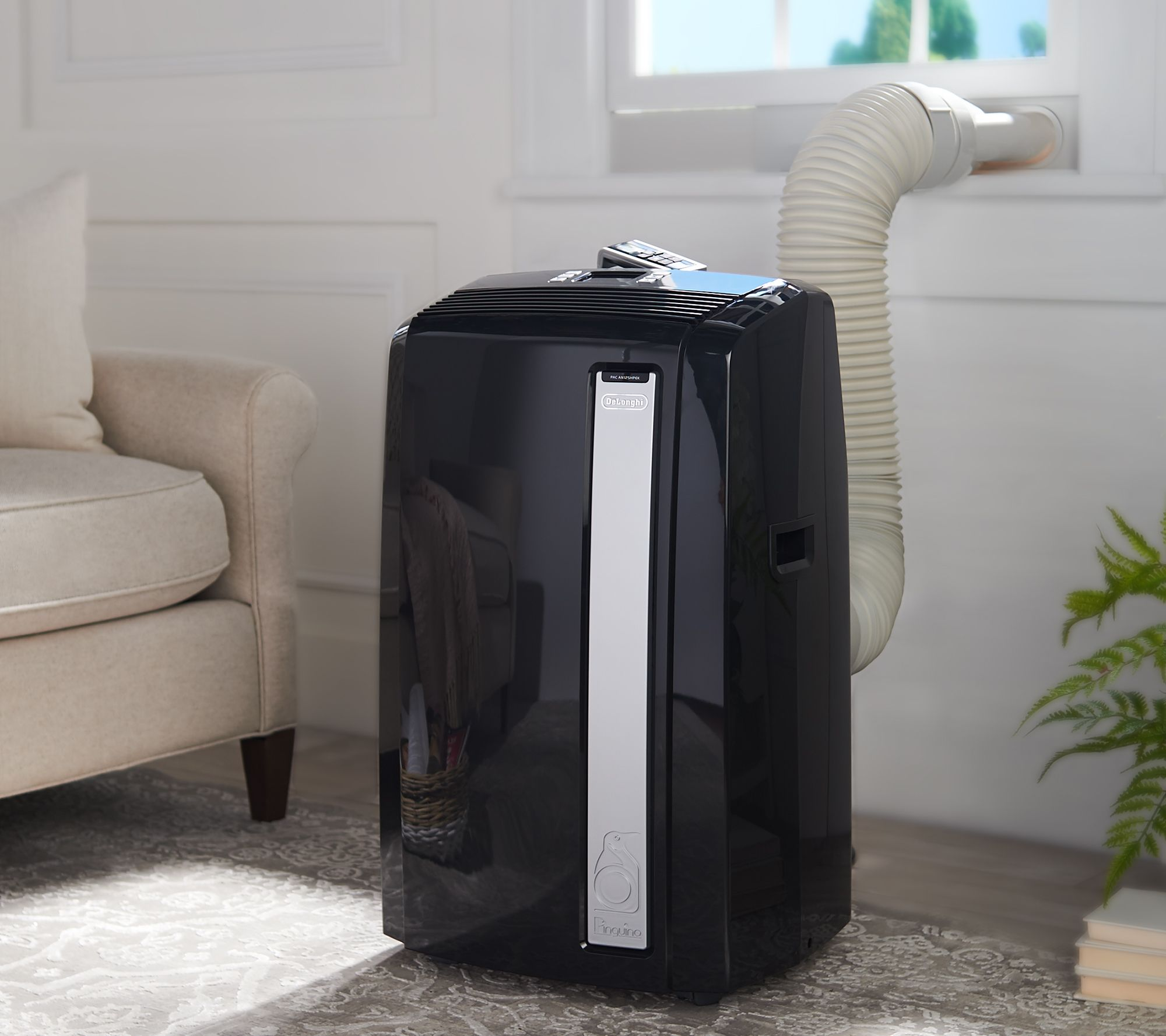 DeLonghi 4-in-1 480 sq  ft  Portable Air Conditioner with Heat — QVC com