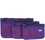 Periea Set of 3 Handbag Organizers with Pockets - V34845