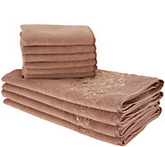 Don Asletts Decorative Microfiber 10-Piece Towel Cloth Set - V35745