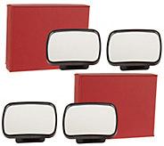 SecureAuto 2 Sets of 2 Blind Spot Mirrors - V34946