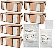 SuperPack 6 Jumbo Totes w/ Compression Bags Plus 2 Bag Bonus - V34747