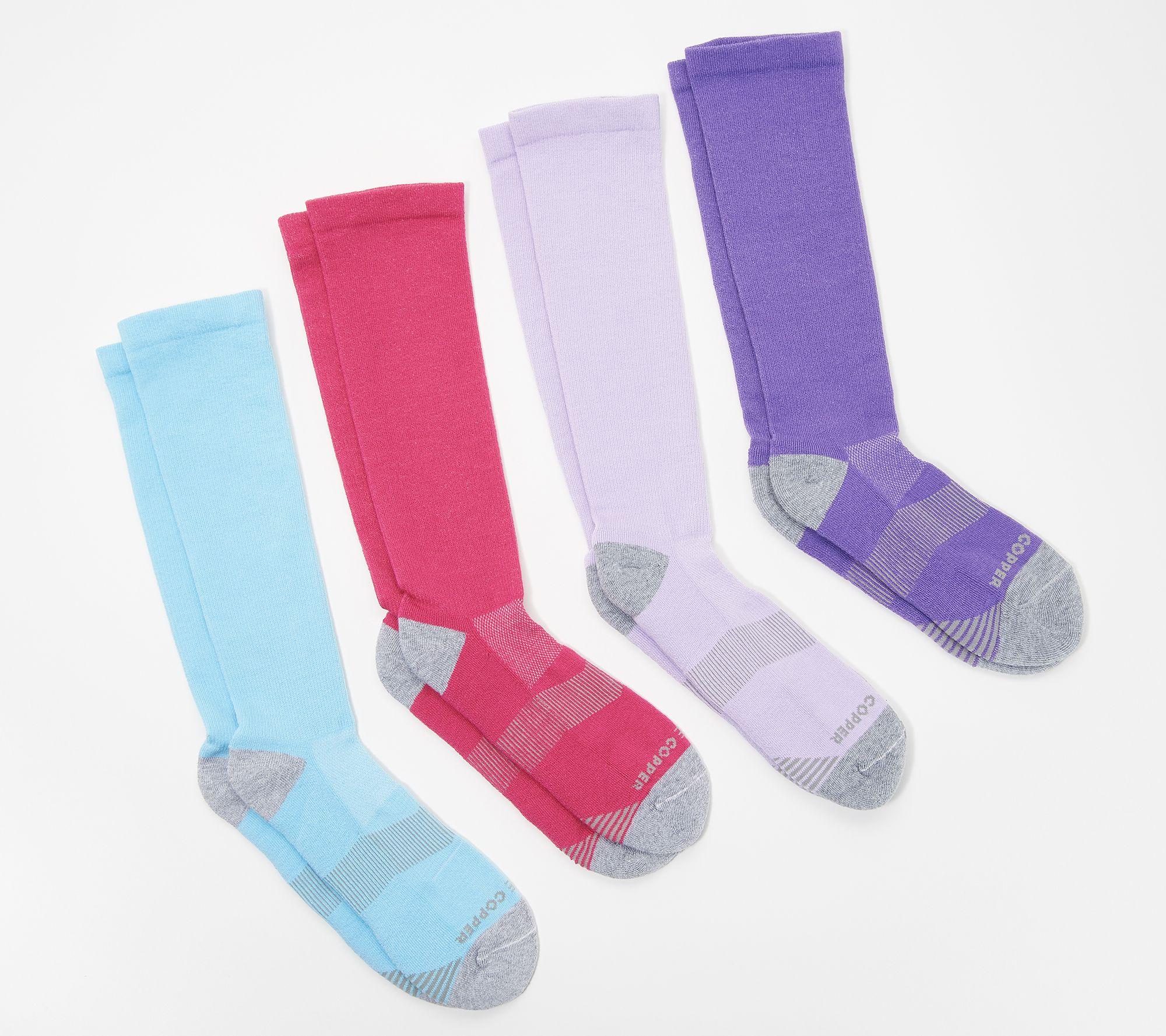 dd07f53de84e6 Tommie Copper Women s 4-Pack Compression Over the Calf Socks - Page 1 —  QVC.com