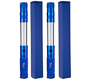 HALO Set of 2 Telescoping LED Flashlights w/ Magnetic Tips and Gift Boxes - V34149