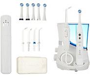 Waterpik 5.5 Water Flosser & Oscillating Toothbrush w/ 6 brush heads - V35551