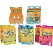 Scrub Daddy 12-Piece Variety Sponge Collection & Caddy Holder - V35651
