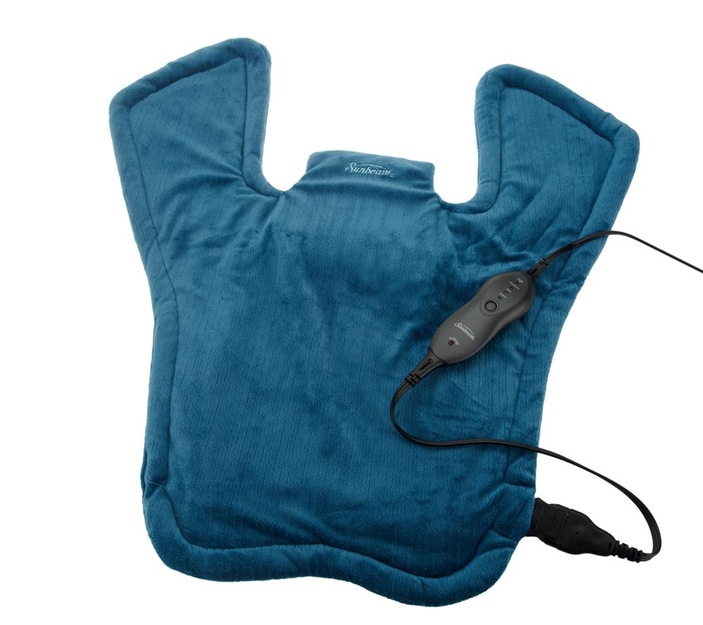 sunbeam x long renue upper back neck shoulder heating pad page